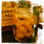 Some people have fancy silver Julep cups passed down through many generations.  I have canning jars.