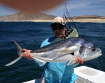 Me, my Roosterfish, and The Macallan's thumb.  We released this beauty, but ate a bunch of mackerel.