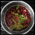Cherry, Basil & Pink Peppercorn Syrup.