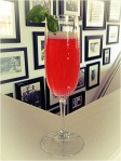 Basil-Cherry Bellini.  Yum!