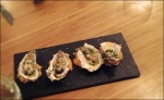 Oysters with a coriander and citrus vinaigrette