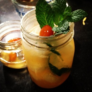 Hemingway Mojito: Grapefruit, rum, Disaronno, ginger syrup, mint & kumquat