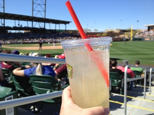 32 oz. white sangria at Salt River Fields [at Talking Stick, near Scottsdale, Arizona]