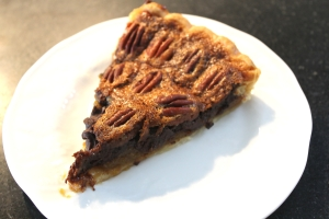 This is NOT D#rby Pie. It's got bourbon, and chocolate, and pecans. My kind of pie.