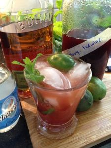 Cheery Cherry Lime Rye Rickey