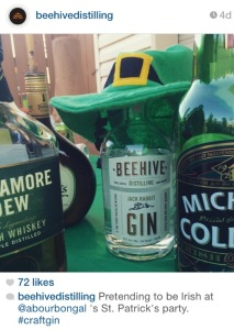 From Beehive Distilling's Instagram feed. Love y'all! Everyone's a little Irish at our fest.