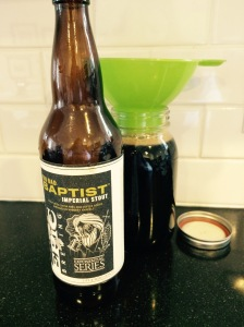 Chocolate coffee stout beer syrup
