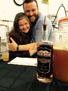 Bourbon made in Utah! Who'd have thunk it? My buddy Jake from Sugar House Distilling and I are pretty dang excited!