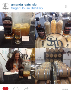 Image capture from my new friend Amanda (well, new IRL; we've been Instafriends for forever!) So many great folks out supporting the distillery.