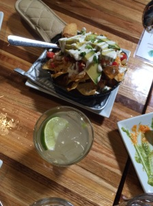 Veggie nachos and a zippy jalapeño margarita at Zest Kitchen & Bar. Check out Instagram with the hashtag #10AMcocktails to see what all of us ate and drank for brunch at Zest! YUM.